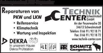 Anzeige Autoreparatur / LKW-Reparatur Technik Center Schwalmstadt GmbH