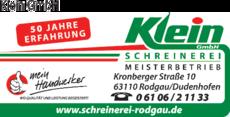 Anzeige Klein GmbH Schreinerei