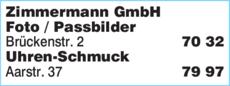 Anzeige Zimmermann GmbH Optik-Foto