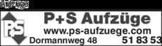Anzeige Aufzüge P+S