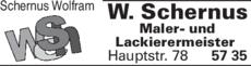 Anzeige Schernus Wolfram Maler- und Lackierermeister