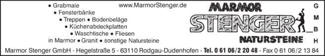 Anzeige Marmor Stenger GmbH