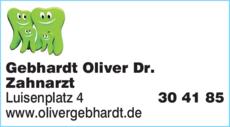 Anzeige Gebhardt Oliver Dr. Zahnarzt