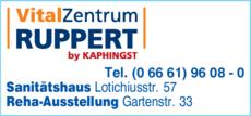 Anzeige Vital Zentrum Ruppert