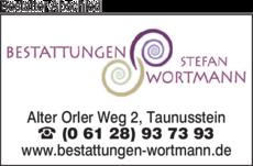 Anzeige Bestattungen Wortmann Stefan