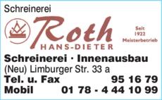 Schreinerei Taunusstein schreinerei roth hans dieter in taunusstein in das örtliche