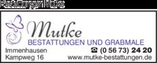 Anzeige Bestattungen Mutke
