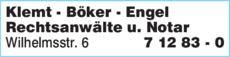 Anzeige Klemt & Kollegen Rechtsanwälte - Notare
