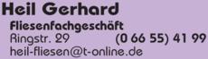 Anzeige Heil Gerhard Fliesenfachgeschäft