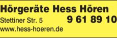 Anzeige Hörgeräte Hess Hören