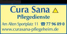Anzeige Krankenpflege Cura Sana