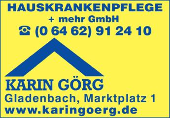 Anzeige Krankenpflege Görg Karin Hauskrankenpflege + mehr GmbH