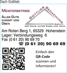 Anzeige Dach Gottlieb Bedachung GmbH