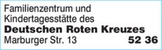 Anzeige Familienzentrum und Kindertagesstätte des Deutschen Roten Kreuzes