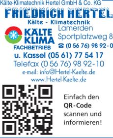 Anzeige Kälte-Klimatechnik Hertel GmbH & Co.KG