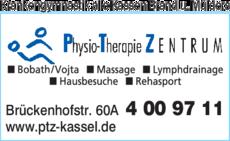 Anzeige Krankengymnastik alle Kassen Physio-Therapie ZENTRUM Brand u. Mülders