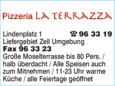 Anzeige Pizzeria La Terrazza