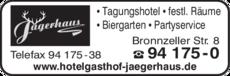 Anzeige Jägerhaus Hotel