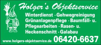 Anzeige Garten- u. Landschaftspflege Holgers Objektservice
