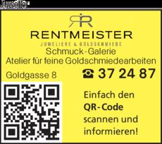 Anzeige Juwelier Rentmeister