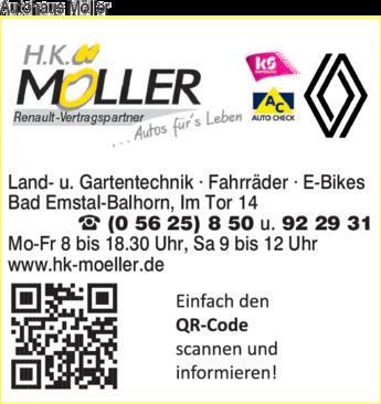 Anzeige Autohaus Möller H.K.