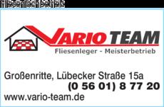 Anzeige Fliesenfachbetrieb Vario Team