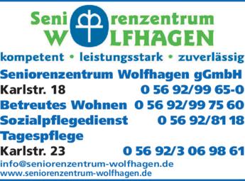 Anzeige Seniorenzentrum Wolfhagen