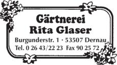 Anzeige Glaser Rita Blumen