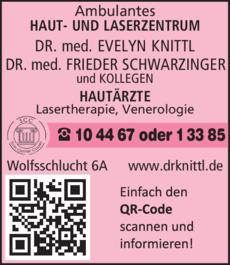 Anzeige AMBULANTES HAUT- UND LASERZENTRUM Dr.med. Evelyn Knittl und Kollegen