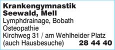 Anzeige Krankengymnastik Büssemaker, Mell