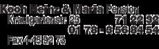 Anzeige Koch Heinz & Maria Pension