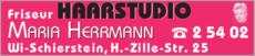 Anzeige Friseur Haarstudio Maria Herrmann