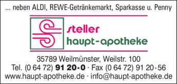 Anzeige Haupt-Apotheke