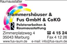 Anzeige Raumausstatter Trommershäuser & Fus GmbH & Co KG
