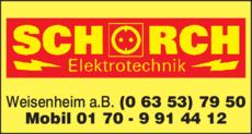 Anzeige Schorch Elektrotechnik