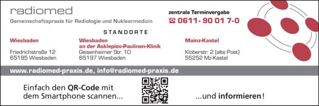 Anzeige radiomed Gemeinschaftspraxis für Radiologie und Nuklearmedizin