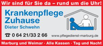 Anzeige Krankenpflege Zuhause Dieter Schwehn