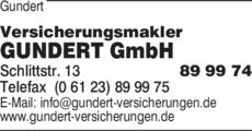 Anzeige Gundert Versicherungsmakler GmbH