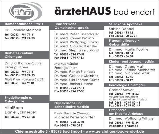 Anzeige Ärztehaus Bad Endorf