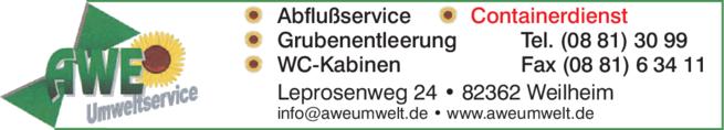 Anzeige AWE Umweltservice GmbH