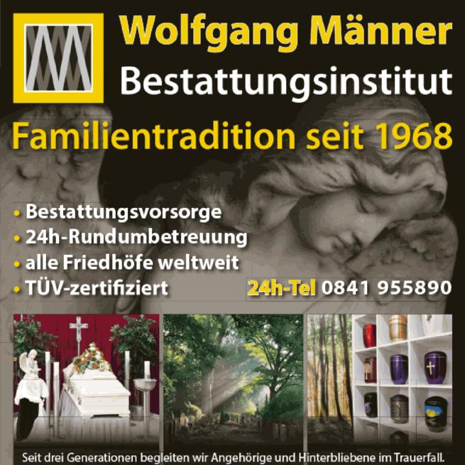 Anzeige Männer Wolfgang Bestattungsinstitut