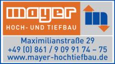 Anzeige Mayer Hoch- und Tiefbau