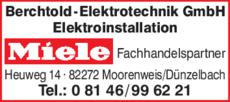 Anzeige Berchtold Elektrotechnik GmbH