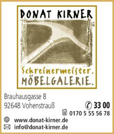 Anzeige KIRNER Donat