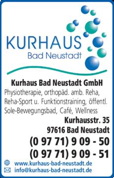 Anzeige Kurhaus Bad Neustadt