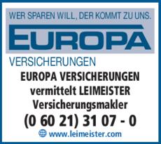 Europa Versicherungen Vermittelt Leimeister In Aschaffenburg In