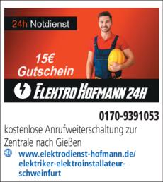 Anzeige Elektro Hofmann