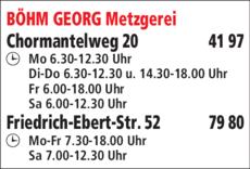 Anzeige Böhm Georg