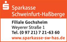 Anzeige Sparkasse Schweinfurt-Haßberge