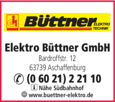 Anzeige Elektro Büttner GmbH